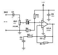 Fig.4 Sezione preamplificatore audio